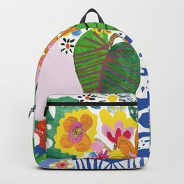 Abstract Flower Bouquet Backpack