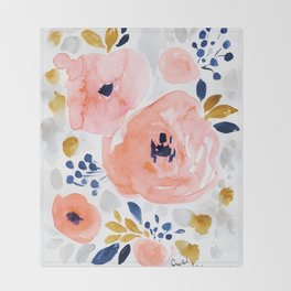 Genevieve Floral Throw Blanket