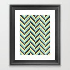 Offset Chevron Framed Art Print