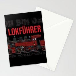 Railway engine driver locomotive model train Stationery Cards