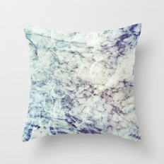 Marble blue Throw Pillow