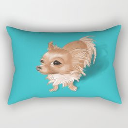Suspicious Chihuahua Rectangular Pillow