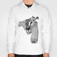 gun Hoodies featuring gun by VoicesRantOn