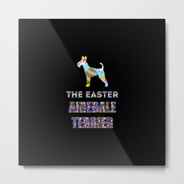 Airedale Terrier gifts | Easter gifts | Easter decorations | Easter Bunny | Spring decor Metal Print