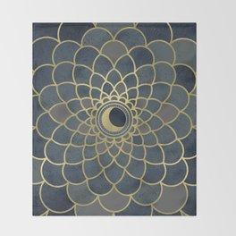 Mystical Moon Mandala Throw Blanket