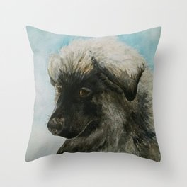 A Tribute to Luca (a Shiloh Shepherd) Throw Pillow