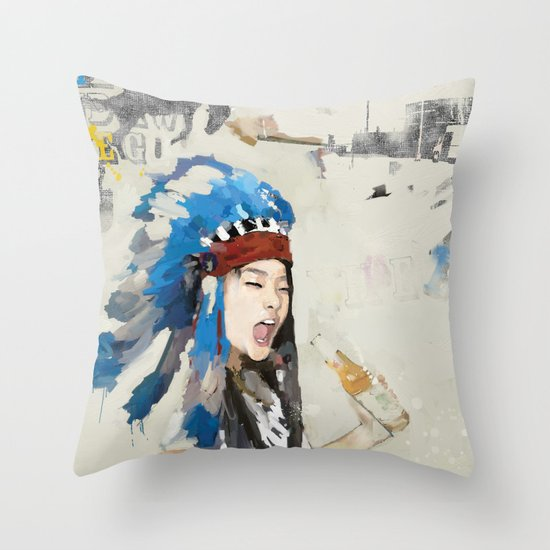 Yippee! Throw Pillow