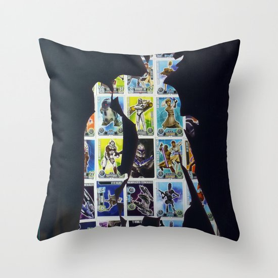 Cut StarWars Collage 8 Throw Pillow