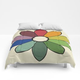 James Ward's Chromatic Circle (no background) Comforters
