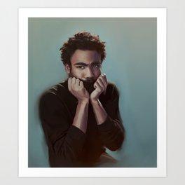 Donald Glover Painting Art Print