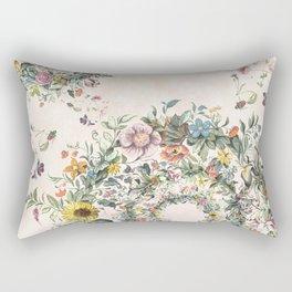 Circle of life- floral Rectangular Pillow