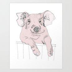 Piggywig Art Print