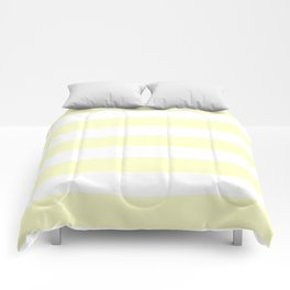Conditioner - solid color - white stripes pattern Comforters