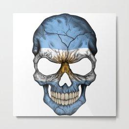 Exclusive Argentina skull design Metal Print