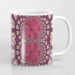 Retro Mermaid Floral Fractal Coffee Mug