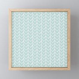 Herringbone Mint Framed Mini Art Print