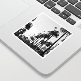 Los Angeles Black and White Sticker