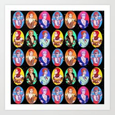 Glam Bowie Spaced Out Art Print