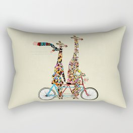 giraffe days lets tandem Rectangular Pillow