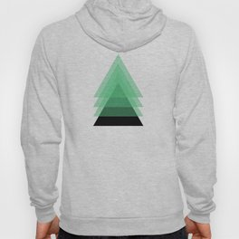 Abstract #16 Green and Black Hoody