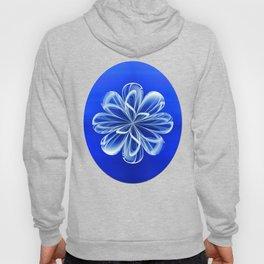 White Bloom on Blue Hoody