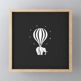 Hot Elephant Balloon Framed Mini Art Print