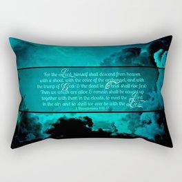 RETURN (1 Thessalonians 4:16-17) Rectangular Pillow