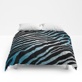 Ripped SpaceTime Stripes - Sky Blue/White Comforters