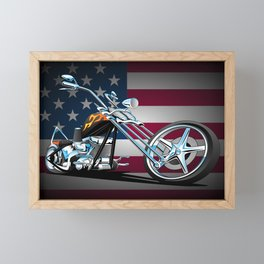 Classic American Chopper Framed Mini Art Print