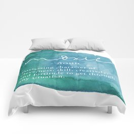 Moxie Definition - Blue Watercolor Comforters