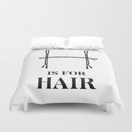 Hair Fashion Bobby Pins Duvet Cover