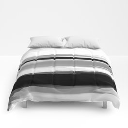 Soft Determination Black & White Comforters