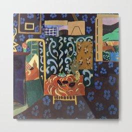 Henri Matisse Interior with Eggplants Metal Print