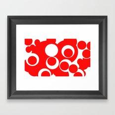 red circles Framed Art Print