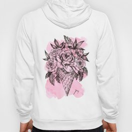 Floral Ice Cream Pink Hoody
