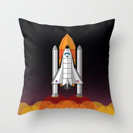 Space Shuttle night launch Throw Pillow