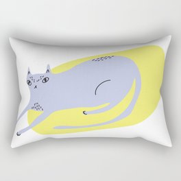 Resting Cat Rectangular Pillow