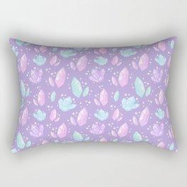 Magical Crystals // Purple Rectangular Pillow