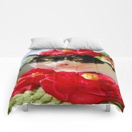 Khoshek queen of flowers Comforters