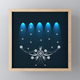 Spot Lights Floral Design Framed Mini Art Print