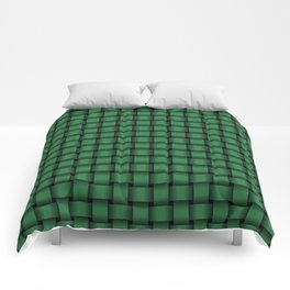 Small Dark Green Weave Comforters