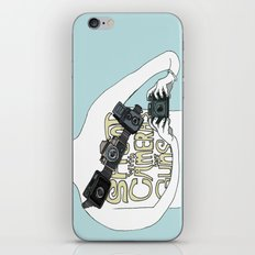 Shoot with cameras not guns iPhone & iPod Skin