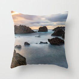Long Exposure Landscape Throw Pillow