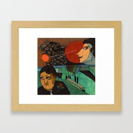 Date at the sunset Framed Art Print