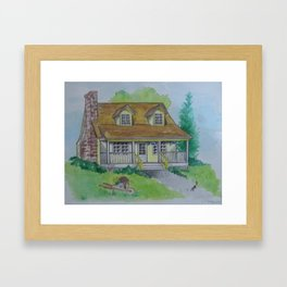 """Welcoming homestead"" Framed Art Print"
