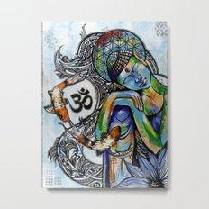 Thinking budah  Metal Print