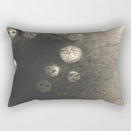 """Odilon Redon """"N'y a-t-il pas un monde invisible"""" Rectangular Pillow"""