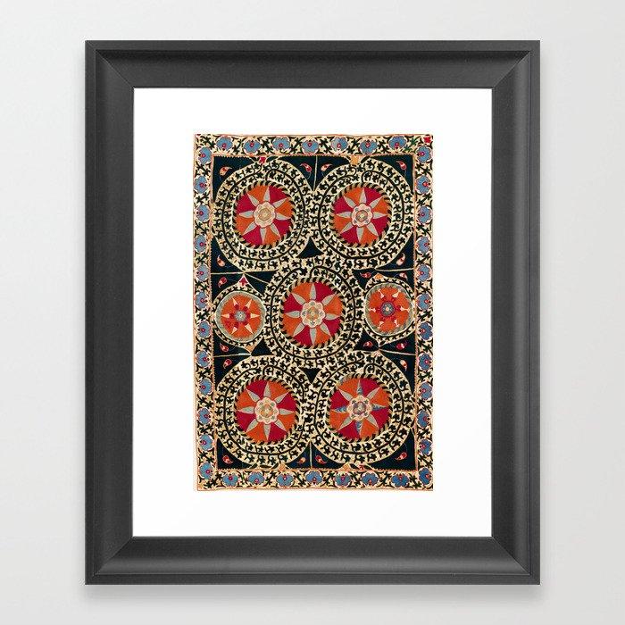Katti Kurgan Suzani Uzbekistan Embroidery Print Gerahmter Kunstdruck