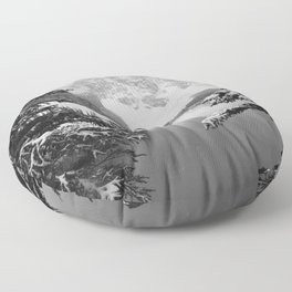 The View (Black and White) Floor Pillow