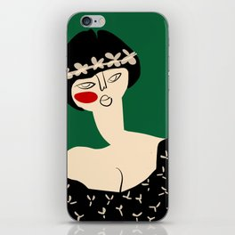 Girl with flower crown iPhone Skin